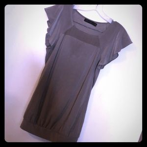 Taupe dress top the limited size extra small